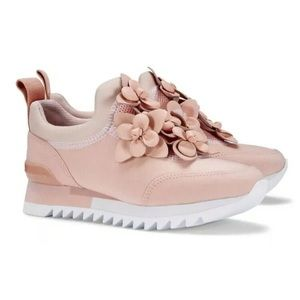 Tory Burch floral blossom sneaker pink blush new 8